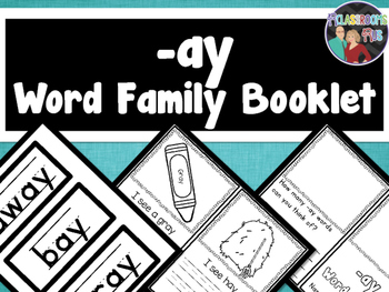 Word Family Booklet -ay