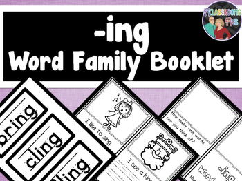 Word Family Booklet -ing