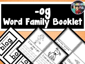 Word Family Booklet -og