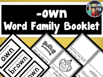 Word Family Booklet -own