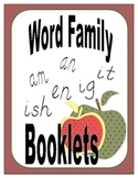 Word Family Booklets: am, an, en, ig, it, ish