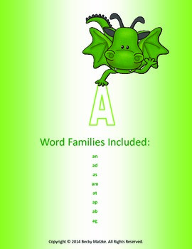 Word Family Books (32 word families included)