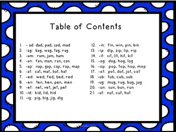 Word Family Books: CVC Say it, Make It Activities