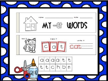 Word Family Books: CVC Say it, Make It Activities