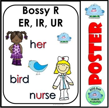 Word Family Bossy ER, IR, UR WORD WORK PRINTABLES ASSESSMENTS