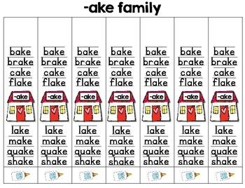 Word Family Bracelets -- 57 Word Families -- Spelling & Phonics Bracelets