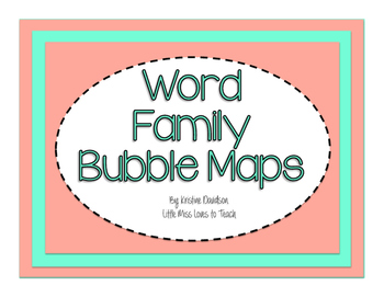Word Family Bubble Maps