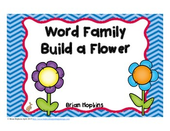 Word Family Build A Flower