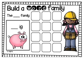 Word Family Build a Word Mats