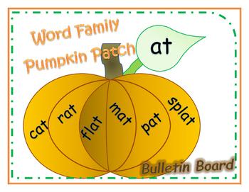 Word Family Bulletin Board