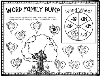 Word Family Bump Game