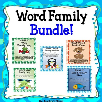 Short Vowel Word Family Bundle!