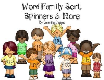 Word Family Bundle: Sorting, Spinning & More