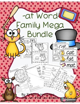 Word Family Bundle with Emergent Reader (-at)