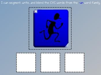 Word Family CVC Beginning Sound Writing