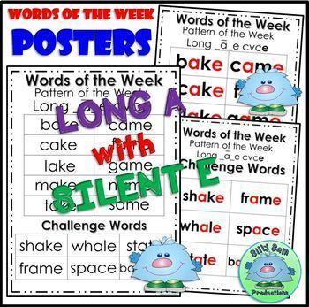 Word Family CVCe LONG A SILENT E Word Work Activities Assessments