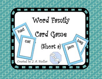 Free For Followers: Word Family Card Game (Short a)