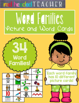 Word Families - Picture and Word Cards for CVC Families