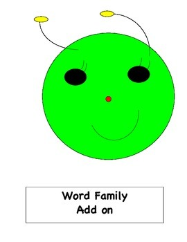 Word Family Caterpillar Add On