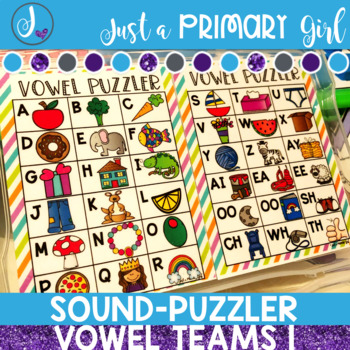 Word Family Center Vowel Team 2 - Puzzler