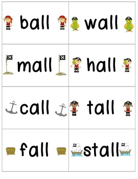 Word Family Center {- all & - ell words} on Deck Word Sort