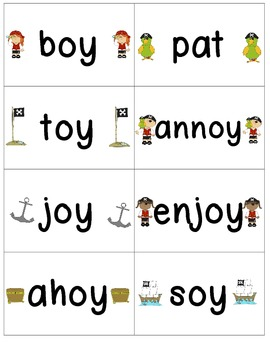 Word Family Center {-oi & -oy words} on Deck Read & Write the Room