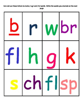 Word Family Center/Station Activity..Making /ag/ and /it/ words