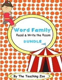 Word Family Centers Read & Write the Room BUNDLE