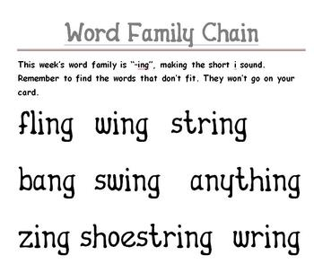 Word Family Chains with Polysyllabic Words