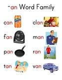 Word Family Charts (Set 1)