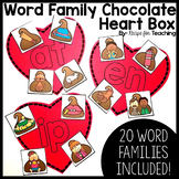 Word Family Chocolate Heart Box