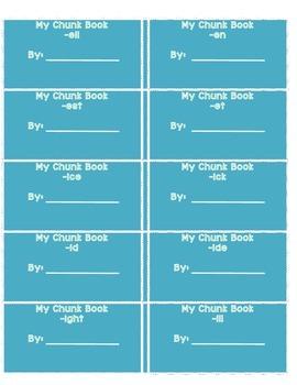 Word Family Chunk Books