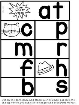 Word Family / Phonics Teaching game and fabulous flipbooks!