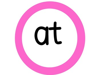 Word Family Circles Display