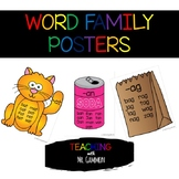 Word Family Classroom Posters