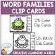 Word Family Clip Cards (250 Cards) 25 Word Families