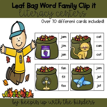 Word Family Clip it! Literacy Center