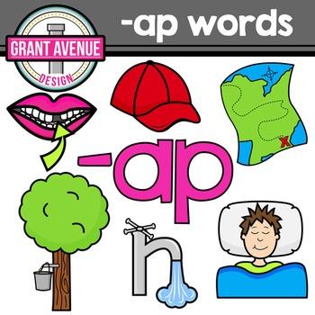 "Word Family Clipart - ""ap"" Word Family Clipart - CVC Middl"