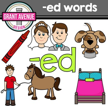 "Word Family Clipart - ""ed"" Word Family Clipart - CVC Middle E Clipart"