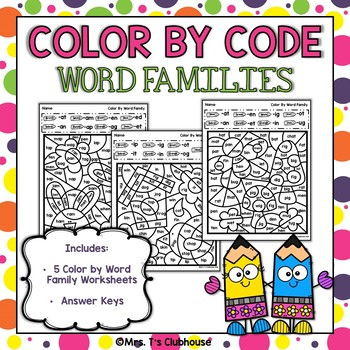 Word Family Color by Codes