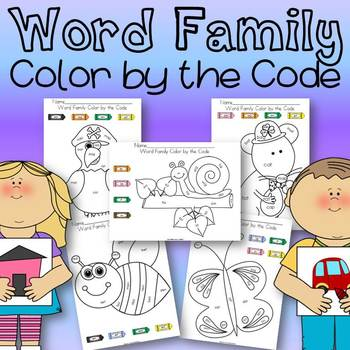 Word Family Color by the Code