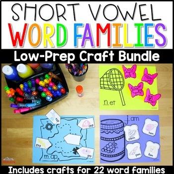 Short Vowel Word Family Crafts Bundle