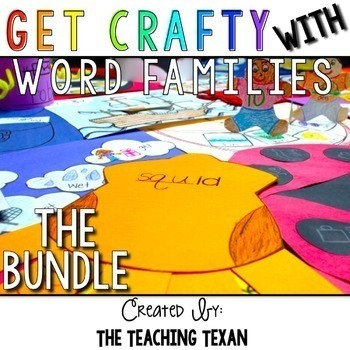Short Vowel Word Family Crafts Bundle Distance Learning