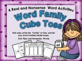 Word Family Cube Toss (4 real & Nonsense Word Activities)