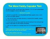 Word Family Cupcake Toss Phonics Center