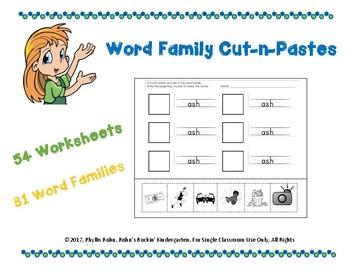 Word Family Cut-N-Paste