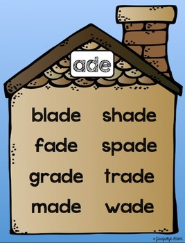 CVCe -ade Family: Word Family Cut, Paste & Read Practice