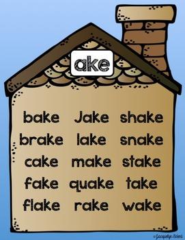 CVCe -ake Family: Word Family Cut, Paste & Read Practice