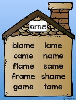 CVCe -ame Family: Word Family Cut, Paste & Read Practice