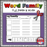 Word Family Worksheets - Cut & Paste